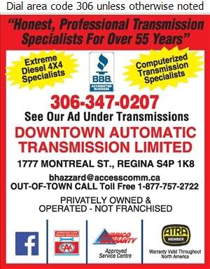 Downtown Automatic Transmission Limited - Auto Parts & Supplies Retail Digital Ad