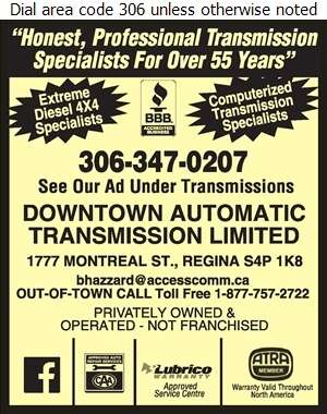 Downtown Automatic Transmission Limited - Auto Repairing Digital Ad