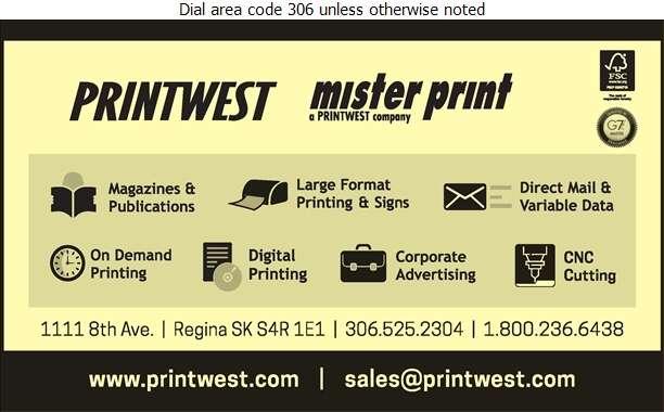 PrintWest Ltd - Printers Digital Ad