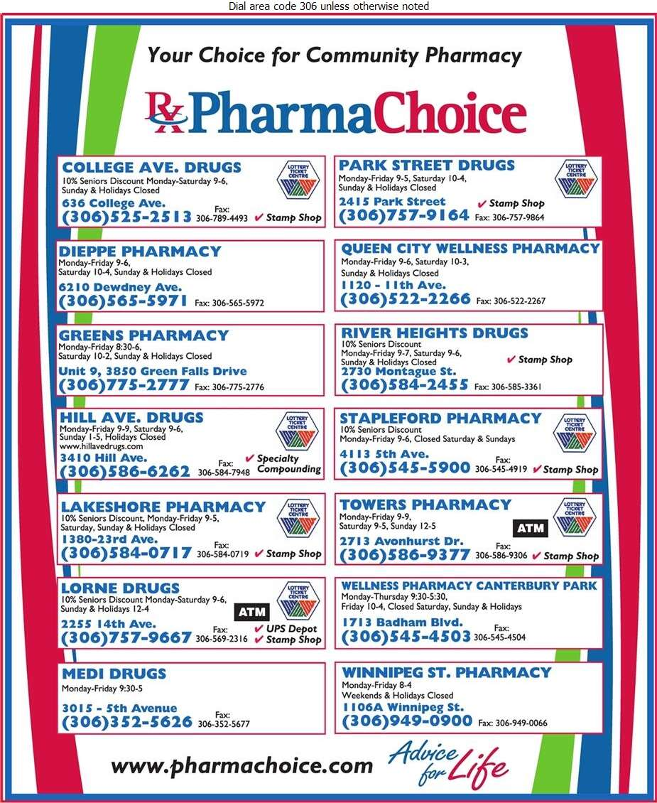PharmaChoice Canada  Inc (Saskatoon Head Office) - Pharmacies Digital Ad