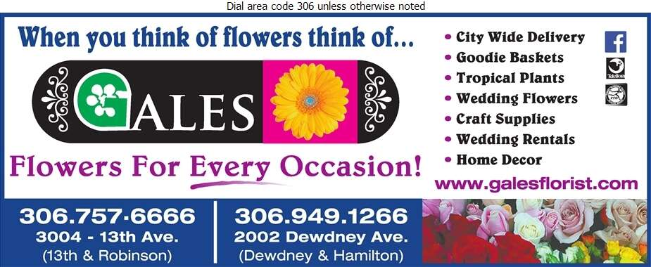 Gale's Florist - Florists Retail Digital Ad