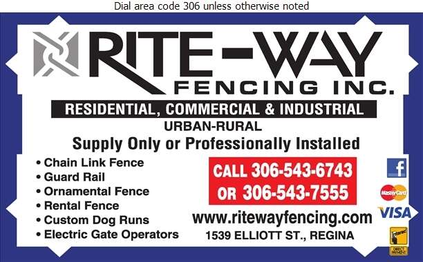 Rite-Way Fencing (2000) Inc - Fences Digital Ad