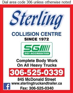 Sterling Collision Centre - Truck Repairing & Service Digital Ad