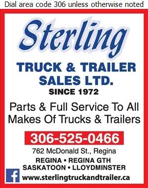 Sterling Truck & Trailer Sales Ltd (Parts) - Trailers Equipment & Parts Digital Ad