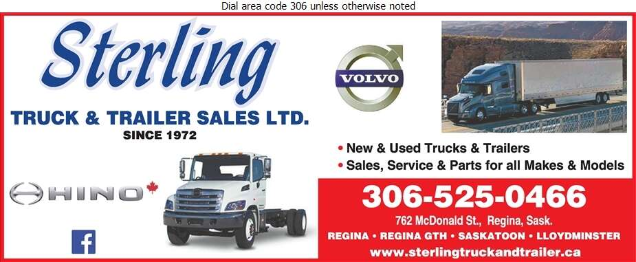 Sterling Truck & Trailer Sales Ltd (Collision Centre) - Truck Dealers Digital Ad