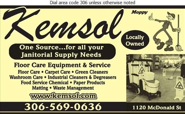 Kemsol Products Ltd - Janitors' Supplies Digital Ad