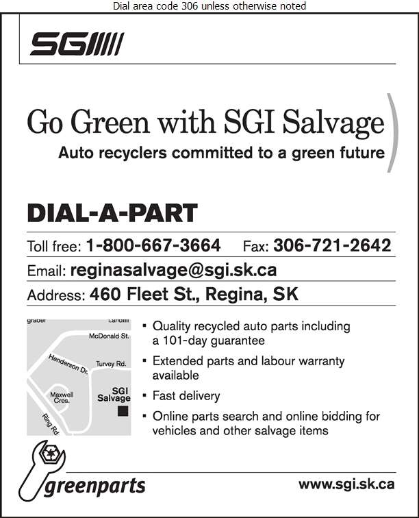 SGI Salvage - Auto Wrecking Digital Ad