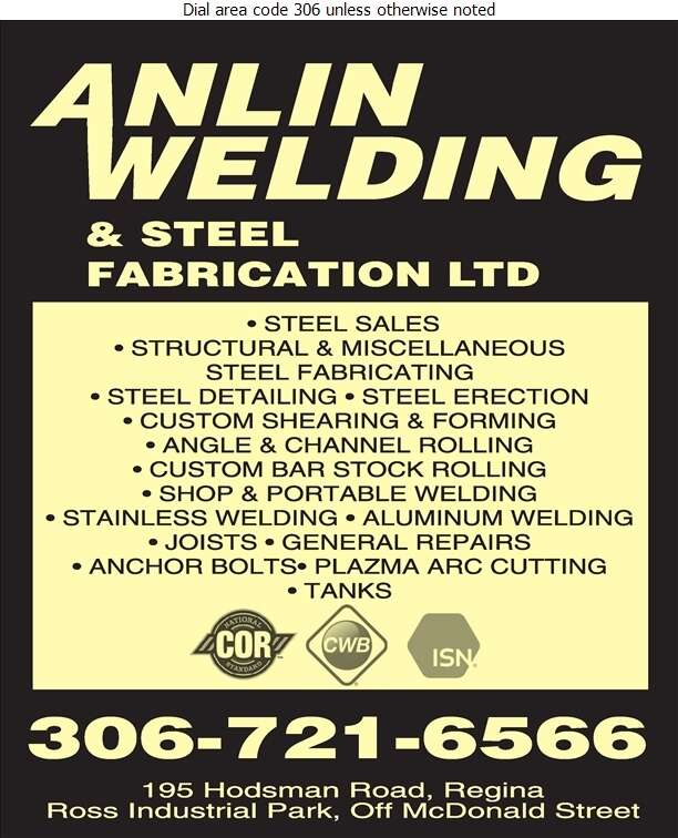 Anlin Welding & Steel Fabrication Ltd - Welding Digital Ad