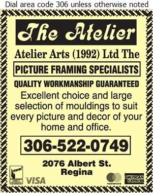 Atelier Arts (1992) Ltd (Custom Picture Framing) - Picture Frames Dealers Digital Ad