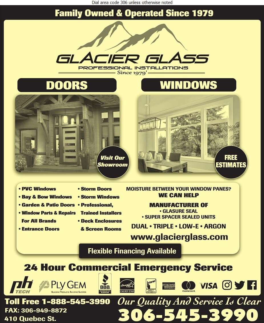 Glacier Glass Service Ltd - Windows Digital Ad