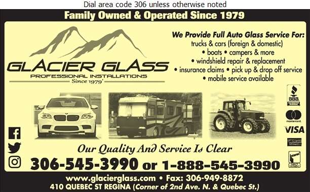 Glacier Glass Service Ltd - Windshields Installation Digital Ad
