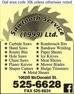 Sawtooth Service (1999) Ltd - Sharpening Service Digital Ad