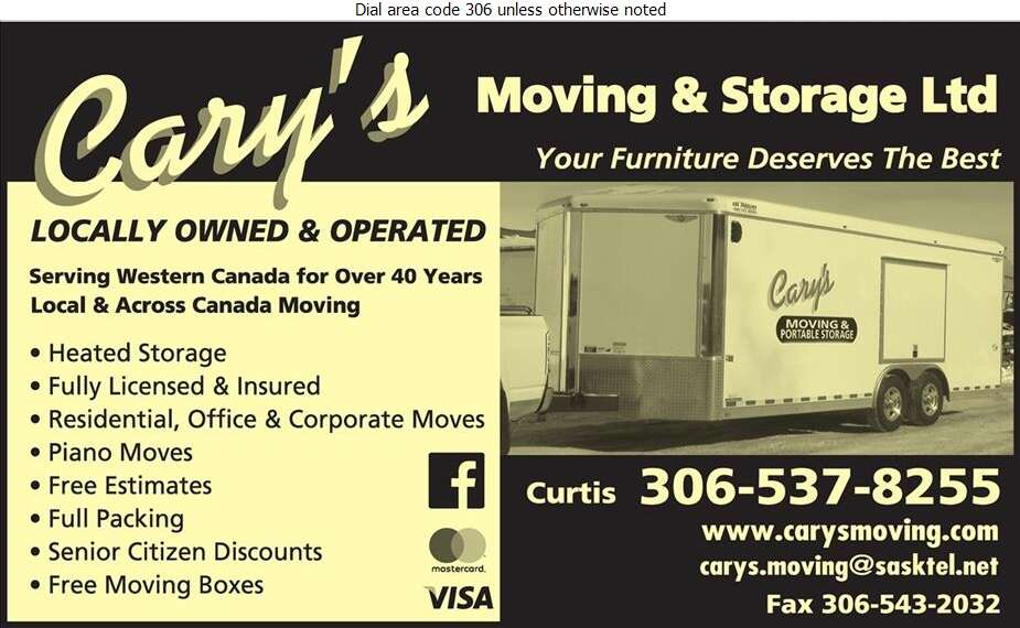 Cary's Moving & Storage (2005) Ltd - Movers Digital Ad