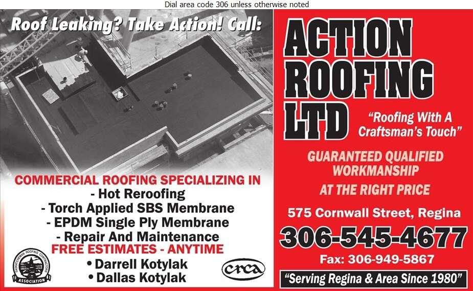 Action Roofing Ltd - Roofing Contractors Digital Ad