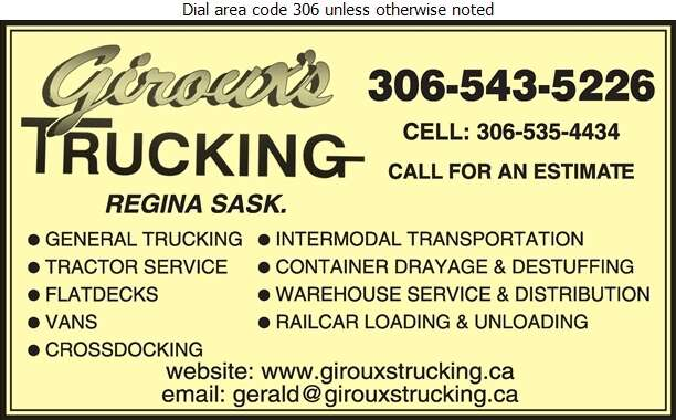 Giroux's Trucking & Tractor Service Ltd - Trucking Digital Ad