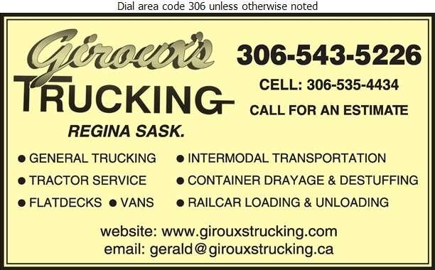 Giroux's Trucking & Tractor Service Ltd - Trucking Digital Ad