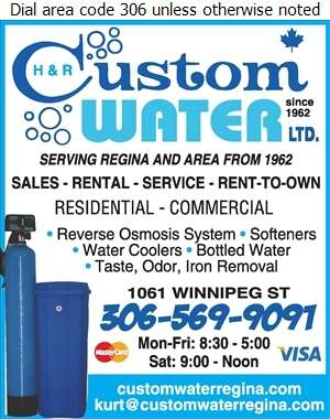 H & R Custom Water Ltd - Water Softening Equipment Service & Supplies Digital Ad