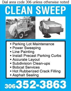 Clean Sweep Lot Maintenance - Parking Areas Construction & Maintenance Digital Ad