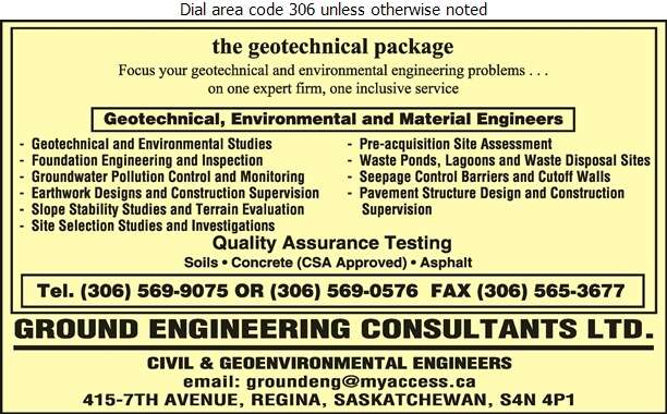 Ground Engineering Consultants Ltd - Engineers Consulting Digital Ad