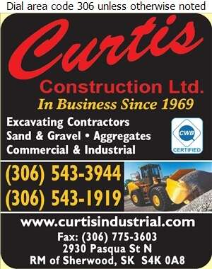 Curtis Construction Ltd - Excavating Contractors Digital Ad
