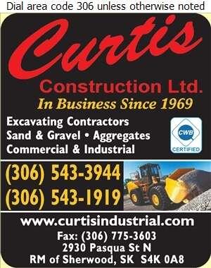 Curtis Construction Ltd - Excavating Contractors Digital Ad