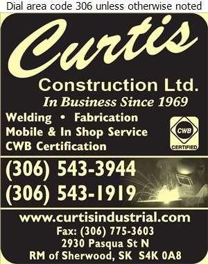 Curtis Construction Ltd - Welding Digital Ad
