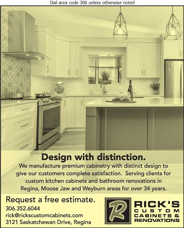 Rick's Custom Cabinets & Renovations Ltd - Kitchen Cabinets & Equipment Digital Ad