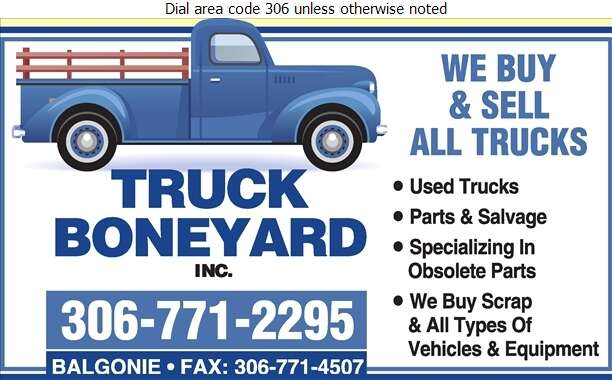 Truck Boneyard Inc - Auto Wrecking Digital Ad