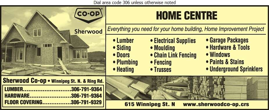 Sherwood Co-Op Home Centre - Builders Supplies Retail Digital Ad