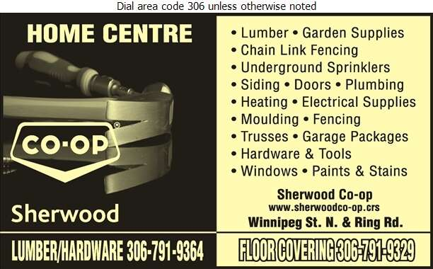 Sherwood Co-Op Home Centre - Hardware Retail Digital Ad