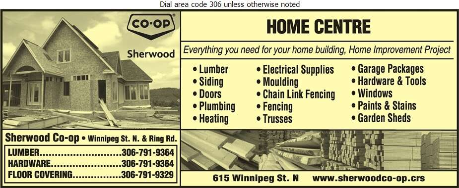 Sherwood Co-Op Home Centre - Lumber Retail Digital Ad