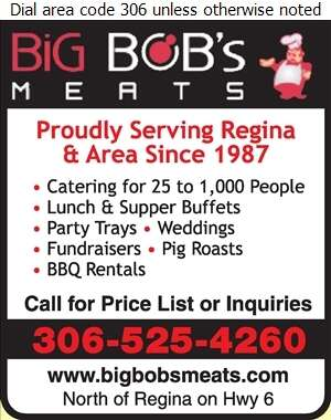 Big Bob's Meats Ltd - Caterers Digital Ad