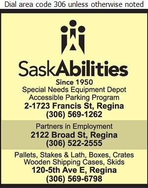 SaskAbilities (Administration Office) - Pallets & Skids Digital Ad