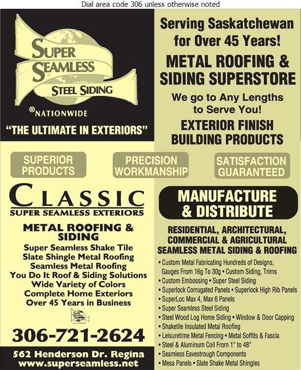 Classic Super Seamless Exteriors Ltd - Roofing Contractors Digital Ad