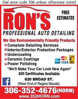 Ron's Professional Auto Detailing - Auto Cleaning Digital Ad