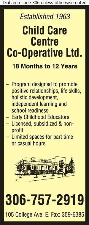 Child Care Centre Co-op Ltd - Day Care Centres & Nurseries Digital Ad