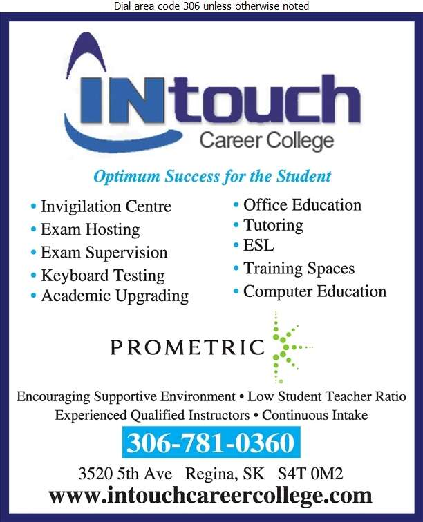 INtouch Career College Ltd - Schools & Colleges Digital Ad