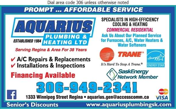 Aquarius Plumbing & Heating Ltd - Air Conditioning Contractors Digital Ad