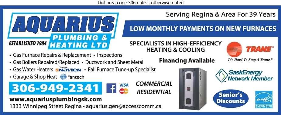 Aquarius Plumbing & Heating Ltd - Furnaces Heating Digital Ad