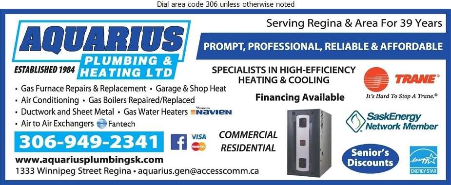 Aquarius Plumbing & Heating Ltd - Heating Contractors Digital Ad