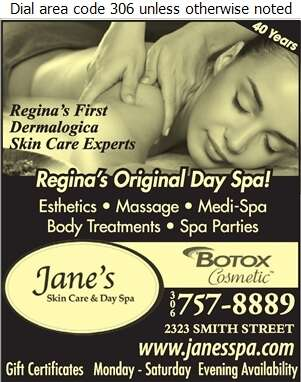 Jane's Skin Care & Day Spa - Spas - Health & Beauty Digital Ad