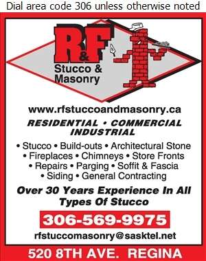 R & F Stucco & Masonry - Stucco Contractors Digital Ad
