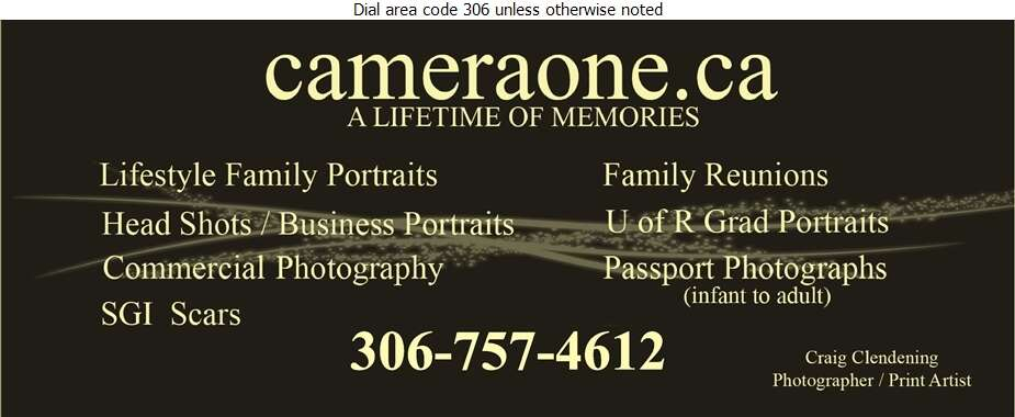 Camera One - Photographers Digital Ad