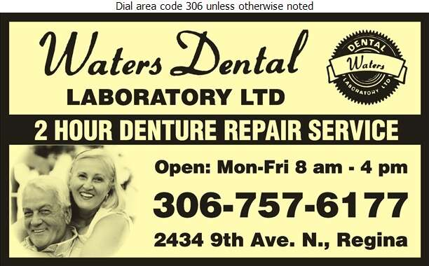 Waters Dental Laboratory Ltd - Dental Laboratories Digital Ad