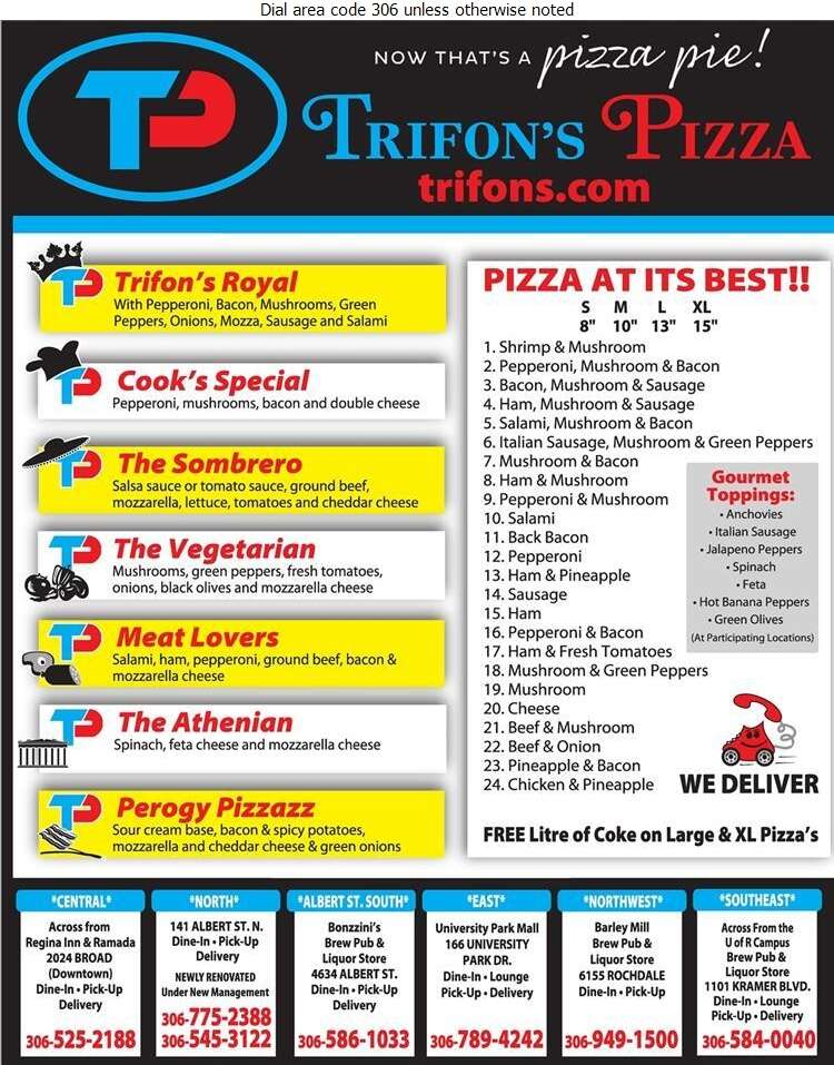 Trifon's Pizza & Spaghetti House (Fax) - Pizza Digital Ad