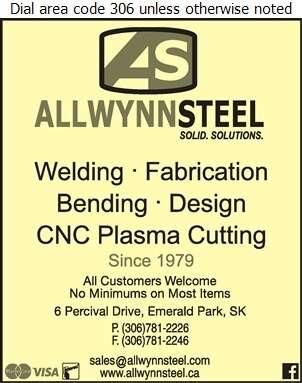 Allwynn Steel - Metal Fabricators Digital Ad