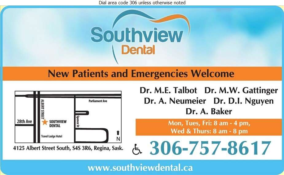 Southview Dental (Thomas D G Gattinger M W Talbot M E Drs) - Dentists Digital Ad