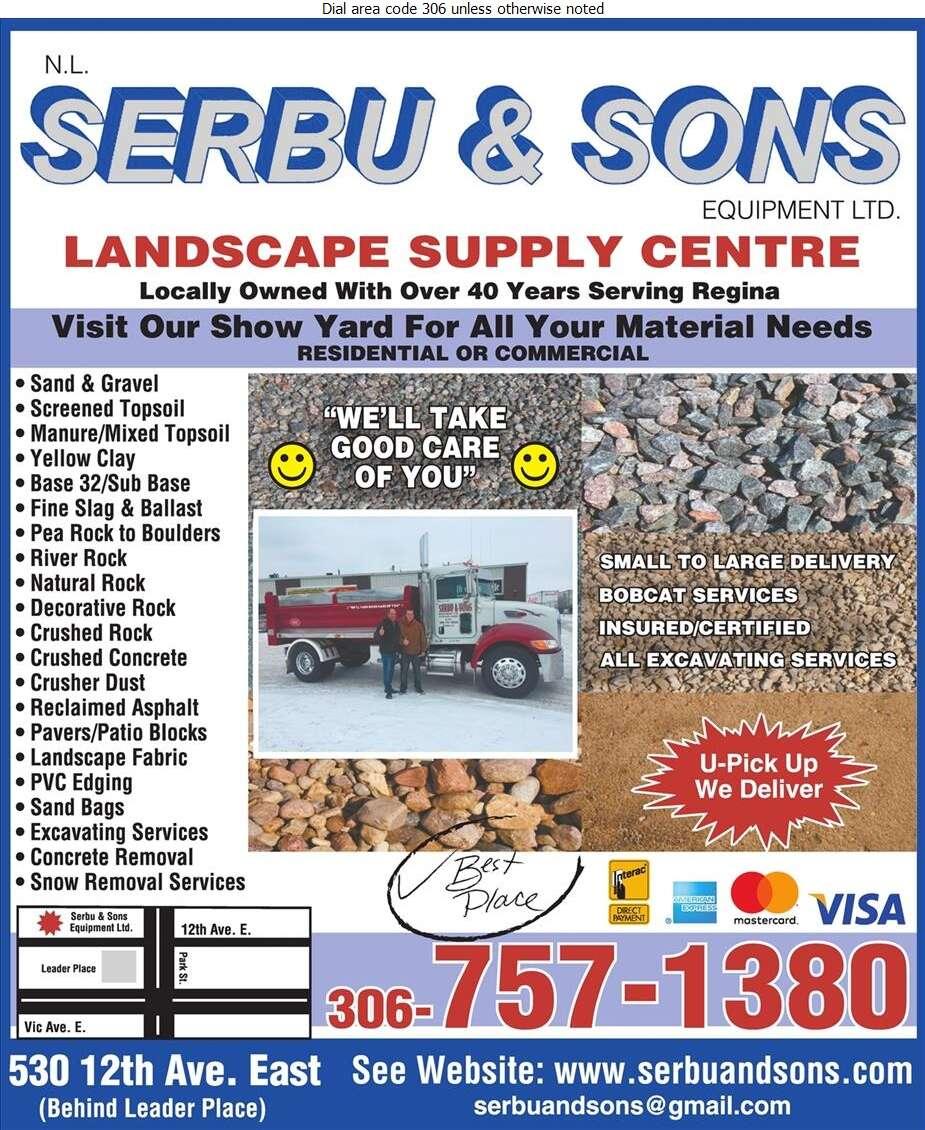 Serbu N L & Sons Equipment Ltd - Landscape Contractors & Designers Digital Ad