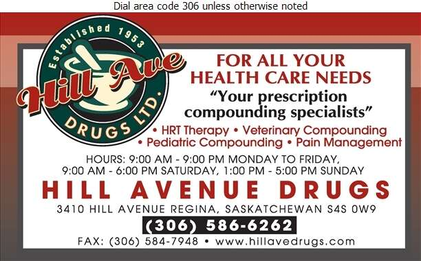 Hill Ave Drugs Ltd (Prescriptions) - Pharmacies Digital Ad