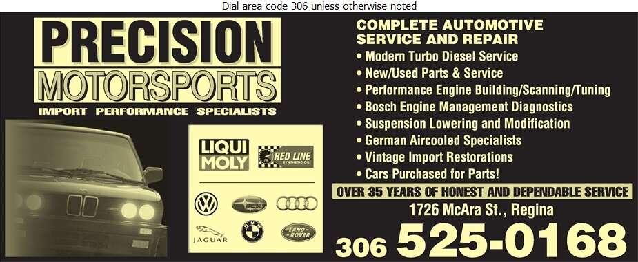 Precision Motorsports Ltd - Auto Repairing Digital Ad